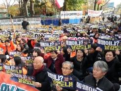 [사진] 방위비 분담금 협상장 앞 구호 외치는 시민사회단체