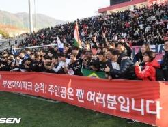 '호물로 결승 PK골' 부산, 경남 울리며 5년 만에 K리그1 복귀