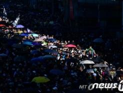홍콩 반정부 시위 6개월 전야, 80만 거리로 나왔다