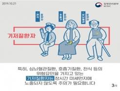 """전국 초미세먼지 '나쁨'…""""대로변 피해 다니세요"""""""