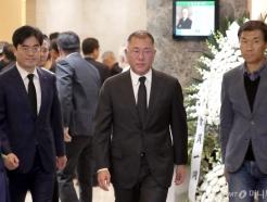 [사진]고 김우중 전 회장 조문 마친 정의선 부회장