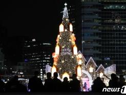 [사진] 청계광장에 세워진 대형 크리스마스 트리