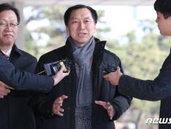 [사진] 김기현 전 울산시장, '청와대 하명수사' 의혹 검찰 출석