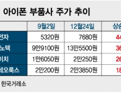 아이폰11 출시에도 잠잠했던 부품株, 뚜껑 열어보니 '대박'