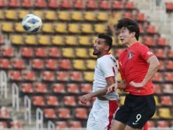 [속보] 한국 조규성 '헤딩 선제골' 요르단에 1-0 리드