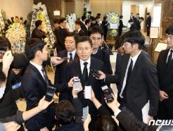 [사진] 고 신격호 명예회장 빈소 찾은 황교안 대표