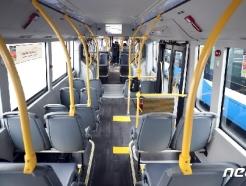 [사진] 일반 버스보다 긴 형태의 전기굴절버스