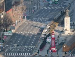 [사진] '고향으로' 텅 빈 서울 도심