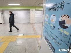 [사진] 종로구, 코로나19 확진자 3번째...썰렁한 지하철역