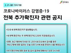 전북서 세번째 코로나19 확진자 발생…직장동료 감염
