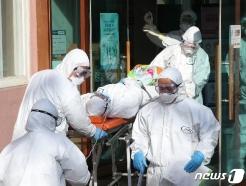 [사진] '코로나19 확산' 청도대남병원 환자 이송