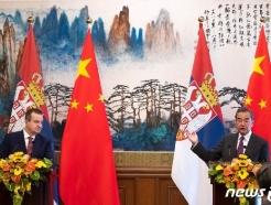 [사진] [사지] 기자회견하는 中 왕이와 다치치 세르비아 외무
