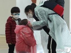 [사진] 코로나19 '마스크와 우비, 물안경까지'