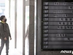 [사진] 코로나19 휴업 권고 '학원가는?'