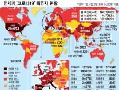 한눈에 보는 전세계 코로나 현황…스페인 사망 1만명↑