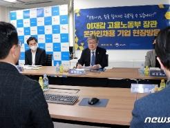 [사진] 온라인채용 기업 현장 찾은 이재갑 고용노동부 장관