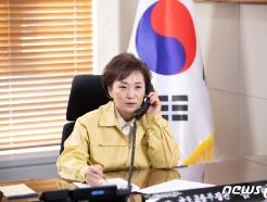 [사진] 김현미 장관, 프랑스 생태포용전환부 국무장관과 통화