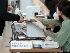 [사진]코로나19가 만든 투표 풍경