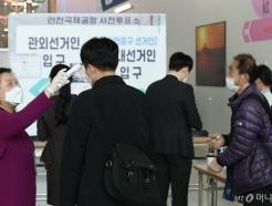 [사진]'투표 전 발열체크'