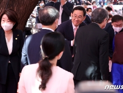 [사진] 봉축법요식 참석한 김태년·주호영·심상정