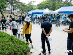 [사진] 여의도 워킹스루 선별진료소 찾은 시민들