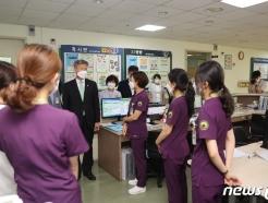 [사진] 박삼득 보훈처장, 대구보훈병원 직원 격려