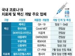 국산 코로나 백신 첫 임상투여…대웅·중외·한미도 도전장