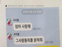 """트라이애슬론 최숙현, 동료들도 당했다…""""법적 대응 돕겠다"""""""