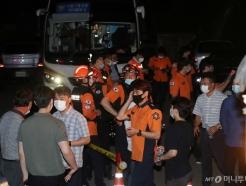 [사진]박원순 시장 수색, 분주한 경찰병력과 구급대원들