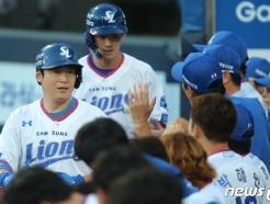 [사진] 삼성 이원석 '투런홈런' 추격이다