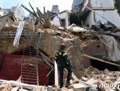 [사진] 베이루트 폭발 현장의 프랑스 구조대원