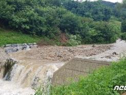 """""""사방댐 덕분에…"""" 충북 폭우 속 산사태 등 피해예방 효과 입증"""