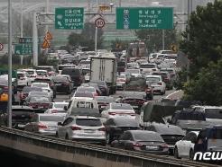 [사진] 바쁘다 바빠 현대사회, 막힌다 막혀 강변북로