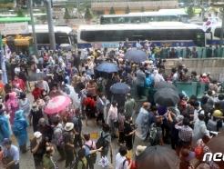 [사진] 광복절 집회 강행하는 보수단체