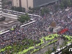 [사진] 코로나19 불안한 보수단체 집회