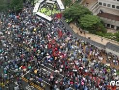 [사진] 행진하는 보수단체