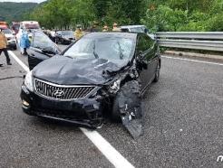 성남 용서고속도로서 승용차끼리 추돌…2명 사상