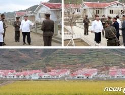 [사진] 강원도 수해 현장 찾은 김정은, 자연생태 환경 개선 강조