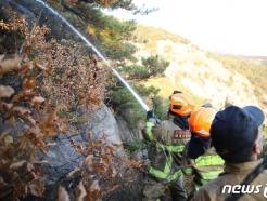 [사진] '북한산 족두리봉 화재 진압 완료'