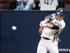 [사진] NC 박민우 '두산 추격의지 누르는 적시타'