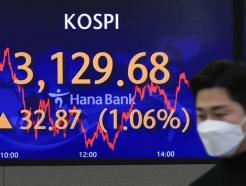 '애플카'에 들뜬 韓 증시…외인 3일 연속 순매수에 3100선 탈환