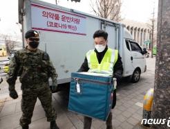 [사진] 군 경호 속 안전하게 이송되는 코로나19 백신