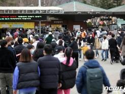 [사진] 포근한 날씨, 나들이객으로 북적이는 서울대공원
