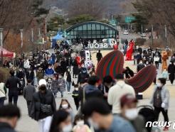 [사진] 포근한 날씨, 서울대공원 찾은 시민들