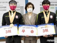 김천대 스쿼시부, 창단 보름만에 전국대회 남자 복식 우승