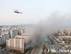 [사진] 남양주 다산동 주상복합건물 화재로 퍼지는 검은 연기