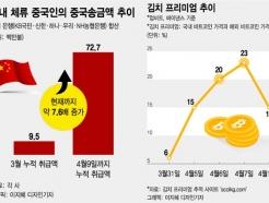 중국인 중국송금, 3월比 8배↑…'비트코인 자금세탁' 우려