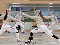 [사진] 구슬땀 흘리는 펜싱 국가대표 선수들