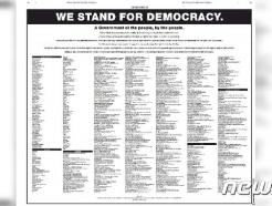 """""""투표권 제한 법안 반대""""…美 대기업 CEO들,  NYT에 광고 게재"""
