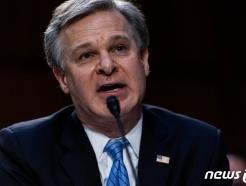 [사진] 상원 청문회서 증언하는 레이 FBI 국장